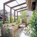 お庭に屋根を付けるとリビングが快適に!!
