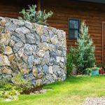 ロック門塀で自然なお庭作り