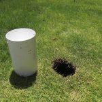 ゴルフホールカップを設置しました!!