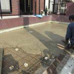 コンクリートの洗い出し工事