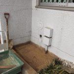 DIYで室外機の下をコンクリートにする!