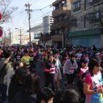 今日は、お店の近くでウィメンズマラソンが開催されます!